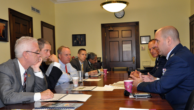 910th Airlift Wing Commander visits congressional representatives and staffers on Capitol Hill.