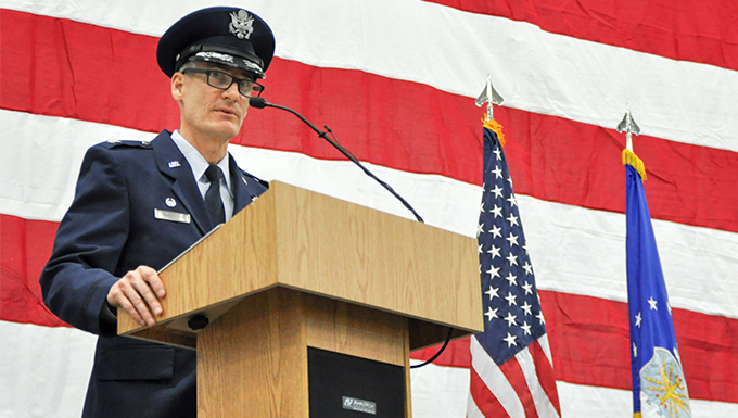 Col. Daniel Sarachene assumed command of the 910th Airlift Wing Feb. 4, 2017.