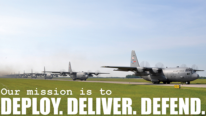 The mission of the 910th Airift Wing is Deploy, Deliver, Defend.