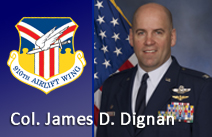 Col. James Dignan, 910th Airlift Wing Commander biography